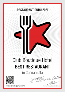 restautant Guru Certificate of excellence Club Boutique Hotel Restaurant